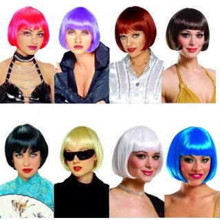 Sassy Chinese Style Flapper Short Bob Wig Costume Accessory