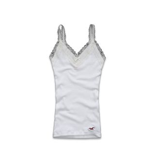 Hollister by Abercrombie Women Tank Fletcher Cove White