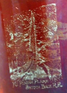 Ruby Pressed Glass Creamer MT Pisgah Switchback Railroad PA