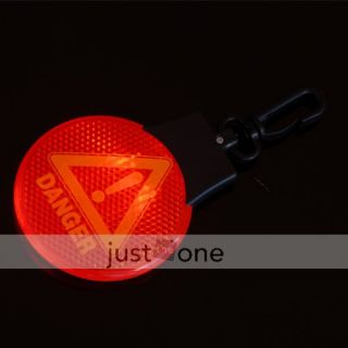 Bike Cycling Safety LED Light Flash Reflector Keychain