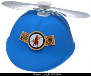 Tom Corbett Space Cadet propeller cap with glow in the dark emblem
