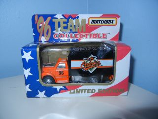 Baltimore Orioles Ford F800 Delivery Truck Matchbox in Box
