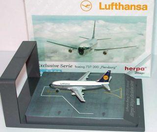 WINGS 515931 Boeing 737 200 Lufthansa Flensburg exlusive serie 1 500
