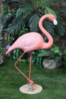 Flamingo Statue Walking Standing Yard Lawn Garden Decor Art Bird NEW