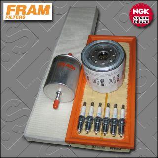 Service Kit Ford Mondeo MK3 2 5 V6 Fram Oil Air Fuel Cabin Filter Plug