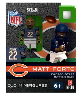 Matt Forte Oyo Mini Fig Figure Lego Compatible Chicago Bears NIP