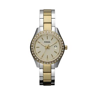 Fossil Womens Stella Mini Stainless Steel Watch – Two Tone ES3106