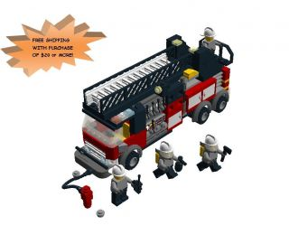 Lego Town City Custom Fire Ladder Truck Instructions Only
