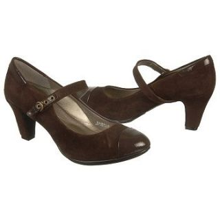 Elegant  POSEY Womens Brown Leather Casual Dress Mary Jane Heel Shoes  EBay