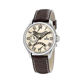 Festina Dual Time Retro Grade f16275/4 Stainless Steel Case Brown