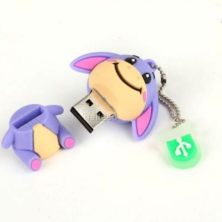 Cartoon Donkey 4GB 4G USB 2 0 Flash Memory Pen Drive Stick