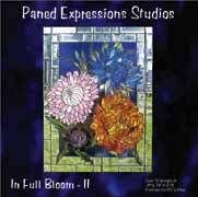 Stained Glass Pattern CD in Full Bloom II Flower Floral