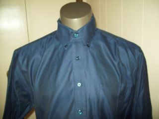 Forsyth of Canada Long Sleeve Blue Dress Shirt Sz L