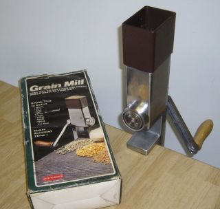 Wheat Grinder Grain Flour Mill Hand Crank Cordless Back To Basics