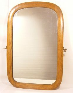 Antique Oak Framed Mirror Nice Old Beauty Large