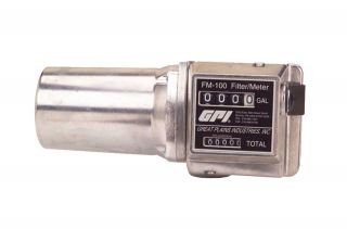 GPI FM 100 Mechanical Fuel Meter 3/4in NPT Inlet/Outlet 3 Digit