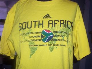FIFA World Cup SOUTH AFRICA 2010 T SHIRT Adult MEDIUM Adidas Soccer