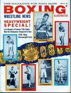 Illustrated Wrestling News Rocky Marciano Floyd Patterson