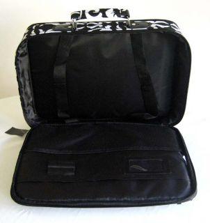 /Laptop Briefcase Bag Padded Travel Luggage Case Damask/Floral White