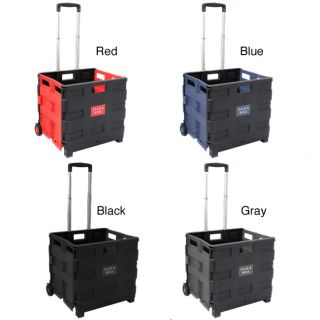 Pack and Roll Lightweight Folding Shopping Utility Cart Blue