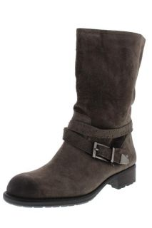 Franco Sarto New Point Taupe Suede Studded Belted Mid Calf Boots Shoes