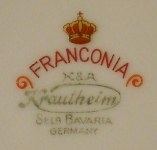 Franconia Krautheim China Dresden Flowers Pattern Bread Butter Plate