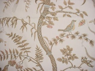 adorable Bird and Thistle floral by beloved Brunschwig et Fils