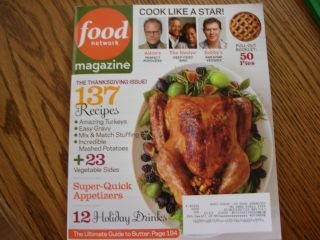 Food Network Magazine Issue November 2011, Vol. 4, Number 9