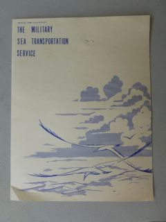 US Military Sea Transportation Cruise SHIP Service Farewell Menu 1958