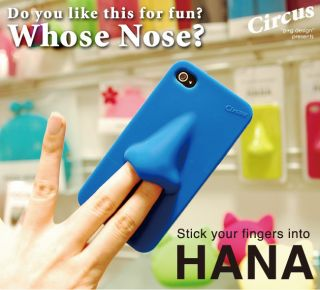 New Stick Your Fingers Into Hana Nose iPhone 4 4S Silicone Case Blue