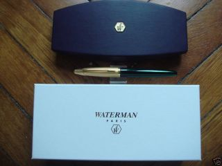 Waterman Edson Green Fountain Pen Med PT New in Box