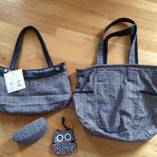NEW Thirty One 31 Retro Metro Bag herringbone, Sunglasses Case, Skirt