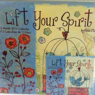 LIFT YOUR SPIRIT 2013 12 month calendar new factory sealed FREE