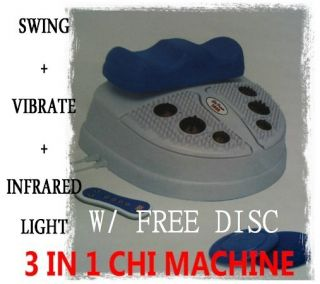 Use the Chi Machine for only 15 minutes per day, you can properly