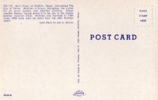 Main Street of McAllen TX Vintage Postcard
