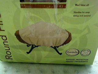 Veranda fire pit cover provides elegant protection for fire pits