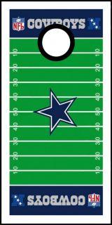 Dallas Cowboys Football Field Cornhole Bag Toss Game Wrap Graphic