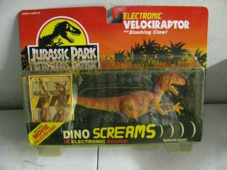 1993 Jurassic Park Electronic Velociraptor Action Figure MOC
