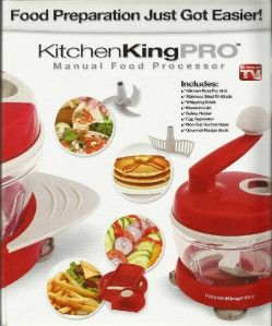 ... New Kitchen King Pro Manual Food Processor Preparation As Seen On TV ...