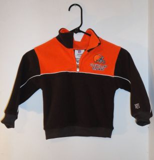 NFL Kids Cleveland Browns Football Youth Embroidered Fleece Jacket