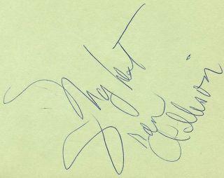 Fran Allison Vintage 70s Signed Album Page Autographed