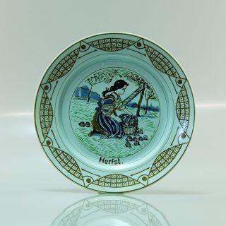 Antique Plate Autumn Franz Anton Mehlem Germany