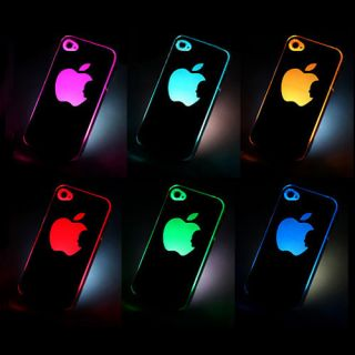 colors changing LED LCD light Case Cover for A pple i Phone 4 4S 4G