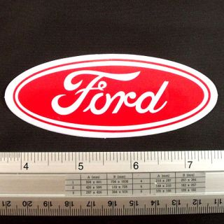 Ford Car Racing Motor Car NonReflect Sticker Decal 1.5x4 Red