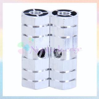 2pcs Cycle BMX Bike Bicycle 3 8 Axle Aluminum Alloy Foot Pegs Silver