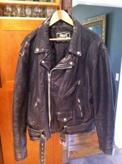Mens x Large First Leather Motorcycle Jacket