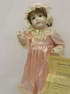 1988 Francine Cee Antique Reproduction Porcelain Doll Hilda J D K Mold