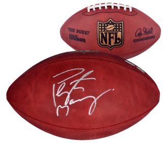 Peyton Manning Autographed Football NFL Game Ball Steiner Sports