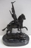 Frederic Remington Bronze Statue Reproduction Scalp Sioux Figurine