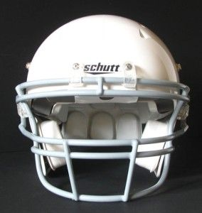White Youth Small Regular Football Helmet Kids Face Mask